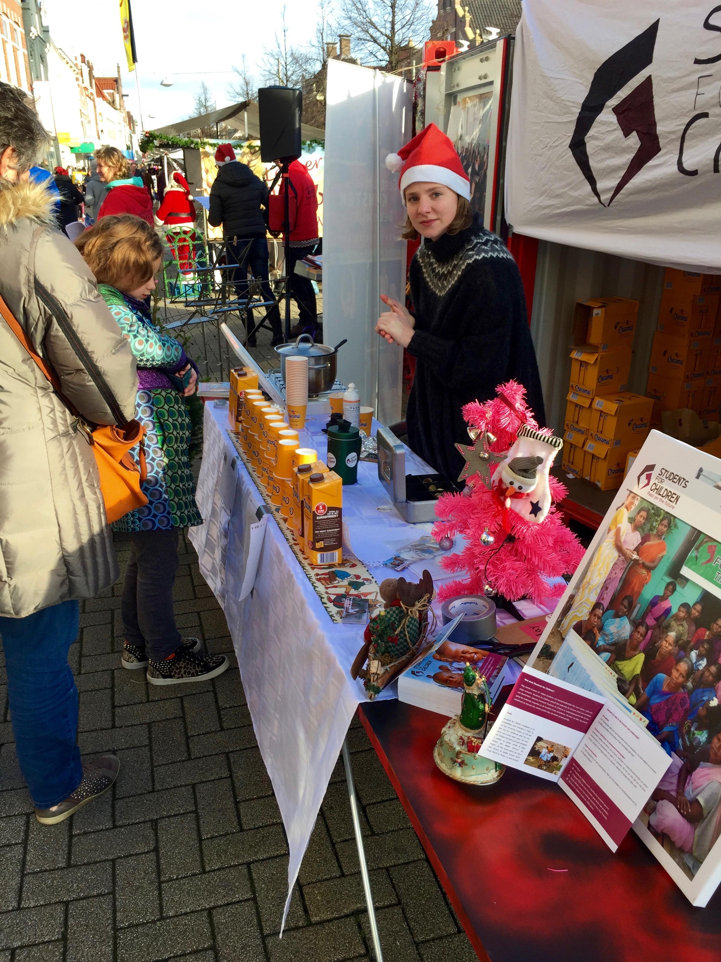 Iris op de kerstmarkt Beverwijk